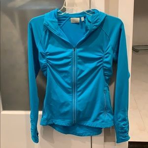 Athleta aqua blue hoodie